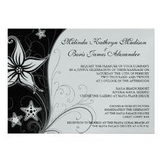 Elegant beach desitination wedding invitations
