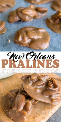 This pralines recipe has been a family recipe that my mom has been making for over 25 years. Whole snappy pecans in a browned sugar coating, these treats are a kind of cookie that is a classic in the south and, especially, New Orleans.