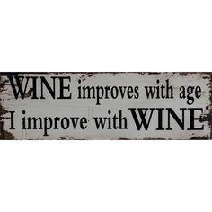 Wooden Wall Plaque Wine Improves With Age Wall Door Decor Vintage Retro Antique Wooden Wall Plaques, Beautiful Homes, Retro Vintage, Typography, Wall Decor, Wine, Antiques, Ebay, Template
