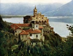 Madonna Del Sasso. A sanctuary and site of pilgrimage in Orselina, Switzerland. A historic cable train brings you up.