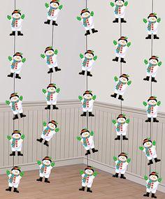Tiras muñeco nieve, unos decorados idóneos para una fiesta de invierno o una fiesta muñeco de nieve, de www.fiestafacil.com / Snowman garlands, ideal for a winter or a snowman party, from www.fiestafacil.com