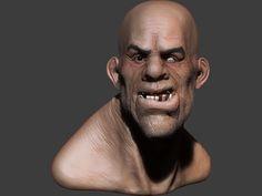 Sculpture digitale Zbrush: portrait du buste d' un Troll