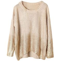 Khaki Womens Gilding Batwing Sleeve Pattern Pullover Sweater (120 SAR) ❤ liked on Polyvore featuring tops, sweaters, khaki, sweater pullover, pink sweater, khaki sweater, pattern tops and pink pullover sweater