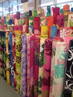 The fabric is wonderful. Went to the Honolulu shop, and they are online.   Fabric Mart in Kahului -Amazing selection of HAWAIIAN fabrics!