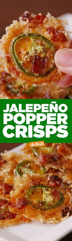 These low-carb Jalapeño Popper Crisps could send potato chips to their grave. Get the recipe on http://Delish.com.
