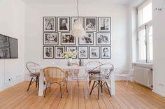 Entre as 05 coisas que todo apaixonado por decoração deve ter em casa estão as cadeiras Madrid e Louis Ghost.