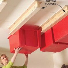 """Garage storage.. I really need to do this asap my garage is looking like a """"hot mess!"""""""