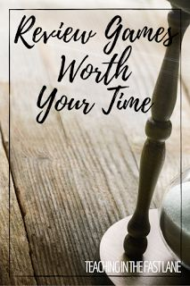 Is your review a little stale? Check out these 6 review games that won't waste your time, and will get the review going! My favorite is the 3rd one! Great for test prep!