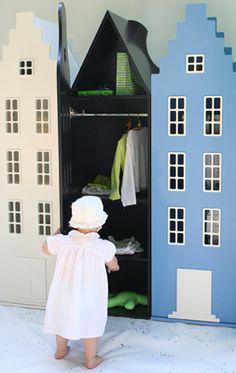 Dream rooms: Ντουλάπες σπίτια για το παιδικό δωμάτιο