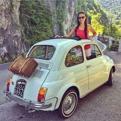 Fiat 500c, Fiat Abarth, Dream Garage, Car Car, Vintage Cars, Classic Cars, Automobile, Instagram, Woman