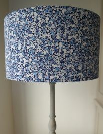 Evie Eccles Liberty Print Lampshade In Wells Blue