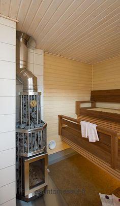 Talo PikkuPuu - Sauna | Asuntomessut Sauna Ideas, Portable Sauna, Sauna Design, Outdoor Sauna, Finnish Sauna, Steam Sauna, Sauna Room, Western Red Cedar, Hot Tubs