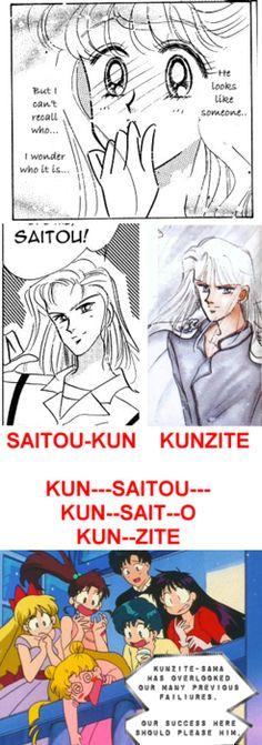 Fuck Yeah, Shitennou & Senshi!!, The first appearance/mention of Kunzite was...