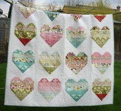 Jelly Roll Quilt Pattern Take Heart via Craftsy