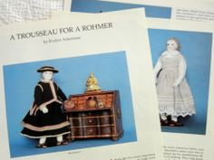 Costuming Article - Dressing/Replicating Clothing for Antique Rohmer Dolls
