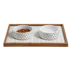 Allyson Johnson Tiny Polka Dots Pet Bowl and Tray | DENY Designs Home Accessories