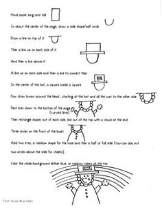 Leprechaun Directed Drawing for St Patrick's Day by FirstGradeBlueSKies | Teachers Pay Teachers