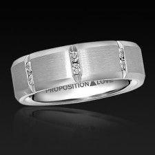 Proposition Love Jewelry's CLASSIC DIAMOND BAND PL4058  We proudly donate a portion of our profits to organizations that support Marriage Equality, Gay Rights and LGBT Youth.