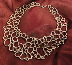 SHIPPING SALE  Silver Cellular Loops Necklace
