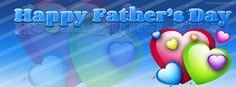 Happy Fathers Day Hearts Facebook Cover CoverLayout.com