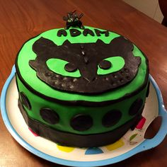 How to train your dragon themed birthday cake with toy top Flickr