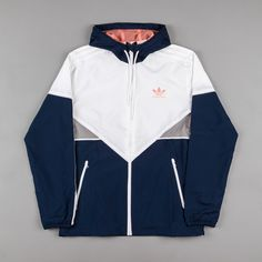 Adidas Premiere Windbreaker Jacket - Navy / White / Sun Glow ,Adidas Shoes Online,#adidas #shoes