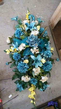 1 visitor has checked in at Rosetta's Flower Cottage. Grave Flowers, Cemetery Flowers, Funeral Flowers, Wedding Flowers, Funeral Floral Arrangements, Flower Arrangements, Wreaths For Funerals, Funeral Sprays, Cemetery Decorations