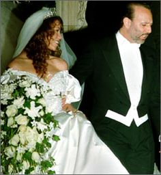 Mariah Carey and Tommy Mottola: It's said that Carey modeled her 1993 wedding to music producer Tommy Mottola after Princess Diana's marriage to Prince Charles. In the $500,000 ceremony, Carey wore a $25,000 Vera Wang gown designed after Princess Di's with a 27-foot-long train. She also wore a custom-made tiara designed to look like one of Princess Diana's. Fifty flower girls were present at the ceremony, and Carey and Mottola ordered a six-tier cake for the guests. This marriage was not a…