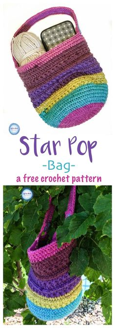 One cake of Bernat Pop yarn is all you need to make this cute, modern and functional crochet bag! Perfect for carrying projects, farmer's markets, library trips and more. Read more for the free crochet pattern and video tutorials to get your started :)
