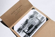 Rustic chic, vintage, kraft paper, save the date via Etsy