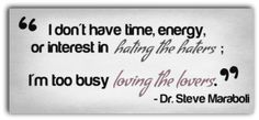 too busy loving