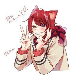 Neko Boy, Boy Cat, Anime Neko, Manga Anime, Anime Art, Sanrio Danshi, Cute Anime Guys, Cute Anime Character, Anime Style