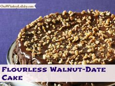Flourless Walnut Date Cake for Passover