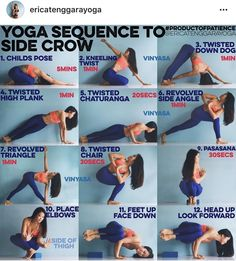 Yoga sequence to side crow