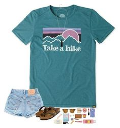 """Take a hike. "" by hopemarlee ❤ liked on Polyvore featuring Life is good, Ray-Ban, Birkenstock, OtterBox, Bobbi Brown Cosmetics, tarte, MAC Cosmetics, Tory Burch, Michael Kors and Juliet & Company"
