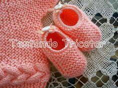Tentando Tricotar: Coletinho de bebê feito na vertical 2