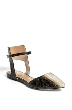VC Signature 'Christey' Embossed Leather Flat available at #Nordstrom