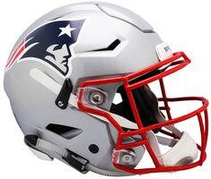 New England Patriots Helmet Riddell Authentic Full Size SpeedFlex Style New England Patriots Helmet, New England Patriots Football, Patriots Fans, Patriots Logo, Nfl Football Helmets, Football Uniforms, Football Fans, Football Images, College Football