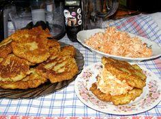 W Mojej Kuchni Lubię.. : placki ziemniaczane z kapustą kiszoną, porem i otr...