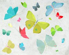 Spring colorful Butterflies