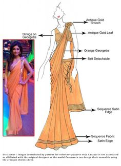 Recently Bipasha Basu was spotted in a designer Sonaakshi Raaj sari-gown. Bipasha wore a white saree on the green carpet. She wore a butterfly pallu saree Dress Design Sketches, Fashion Design Sketchbook, Fashion Design Drawings, Fashion Sketches, Indian Dresses, Indian Outfits, Fashion Figure Drawing, Fashion Show Themes, Fashion Illustration Dresses
