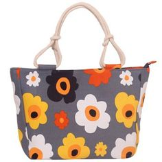 Sweet Flower Print and Canvas Design Women's Tote Bag
