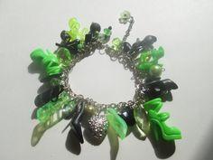 Black and Green  Barbie shoe bracelet  / ITEM 3367