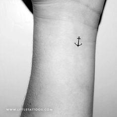 Minimalist Anchor Temporary Tattoo - Set of 3 – littletattoos Luck Tattoo, Bestie Tattoo, Map Tattoos, Anchor Tattoos, Travel Tattoos, Beach Theme Tattoos, Beach Tattoos, Sailing Tattoo, Coordinates Tattoo