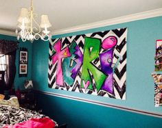 Teen Art Boho Painting Serape Room Decor by unsophisticatedart