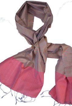 Sreyneang - Scarves from Cambodia - Handmade Silk Scarf from Cambodia (KRFS103), £39.90 (http://www.sreyneang.co.uk/handmade-silk-scarf-from-cambodia-krfs103/)