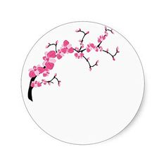 Cherry Blossom Tree Branch Stickers Zazzle
