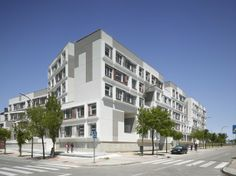 Social housing in Barajas, Spain uses precast concrete for fast & efficient installation | Photos by Roland Halbe