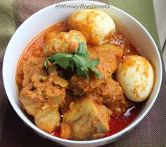 Honey Bee Sweets: Nonya Curry Chicken (Kari Kapitan) for MFF featuring Penang