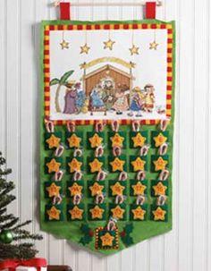 Bucilla ® Seasonal - Counted Cross Stitch/Felt - Home Decor - Mary Engelbreit™ - Christmas Pagent Advent Calendar